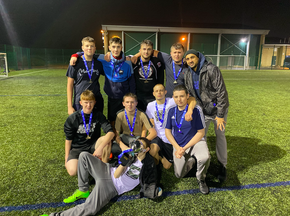 Our U17's team win's Leicester City in the Community Kicks Football Tournament!